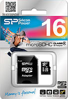 MicroSDHC 16Gb SiliconPower (4class), фото 1
