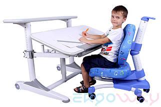 Комплект Детская парта растишка трансформер Ergoway T350L + кресло M350 Blue + ПОДАРКИ, фото 2