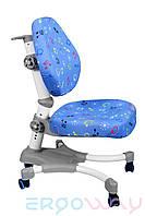 Детское компьютерное ортопедическое кресло растишка Ergoway M350 Blue+Gray