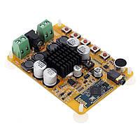 Аудио усилитель TDA7492, 2 х 50Вт, Bluetooth 4.0, AUX, Микрофон, D класс