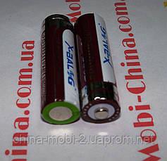 Аккумулятор Li-Ion x-balog 3.7-4.2V 5800mAh 14500 (фиолетовый), фото 2