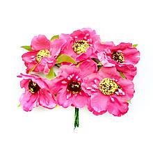 Маки міні яскраво - рожеві 5см