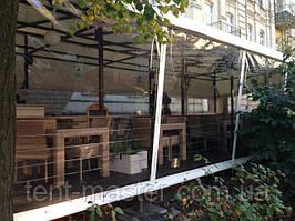 Прозрачные шторы ПВХ для ресторана