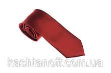 Красный однотонный галстук
