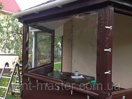 Утепление веранды прозрачными шторами ПВХ
