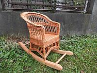 Плетеное кресло-качалка детское