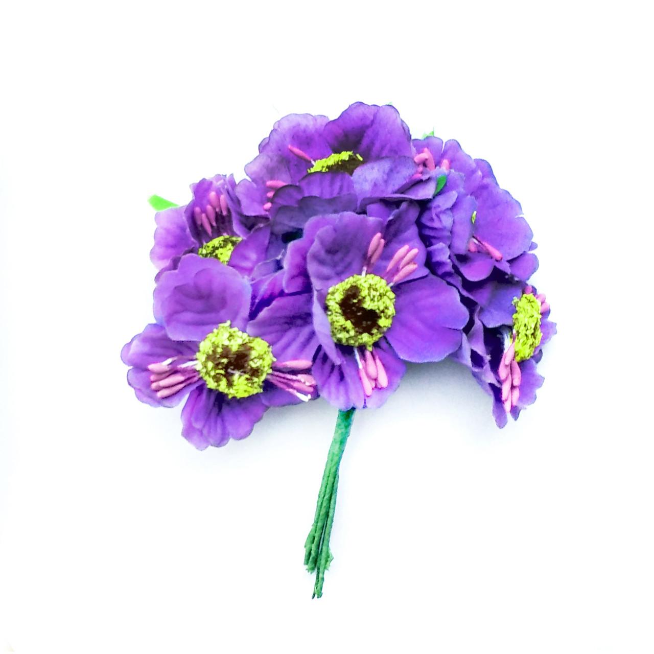 Маки мини фиолетовые 5см