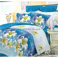 Комплект постельного белья ранфорс семейный Лилии