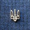 Значок Герб Украины , под серебро , 15*10 мм.