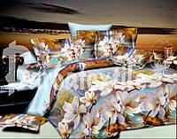Комплект постельного белья ранфорс евро Рай