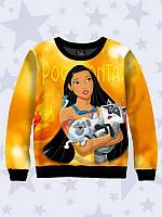 Детский 3D свитшот/джемпер Pocahontas из качественного трикотажа на флисе от 1 года до 10 лет.