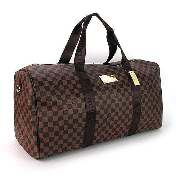 Сумка дорожная кожа PU коричневая Louis Vuitton 41412-2