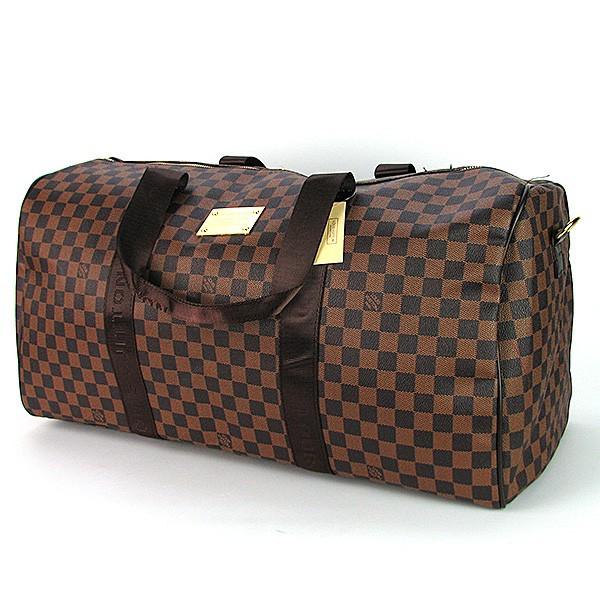 ddc5b8908c51 Сумка дорожная кожа PU коричневая Louis Vuitton 41412-2- купить по ...