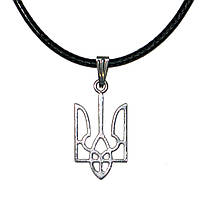 Кулон Герб України (під срібло)., фото 1