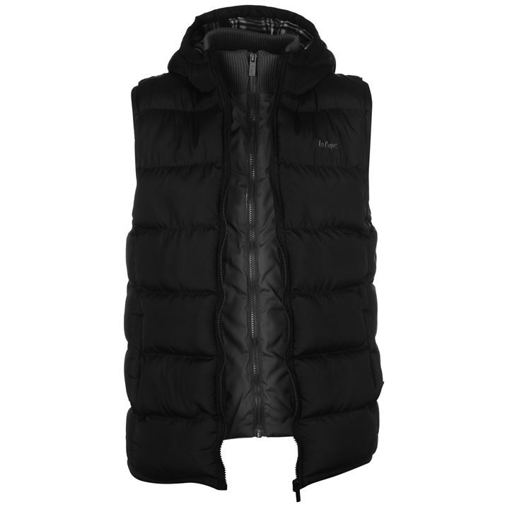 Жилетка Lee Cooper Two Zip Gilet Mens