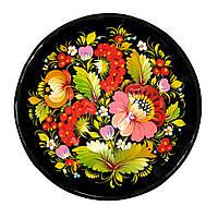 Тарелка петриковская роспись, Тарелка расписная глубокая., фото 1