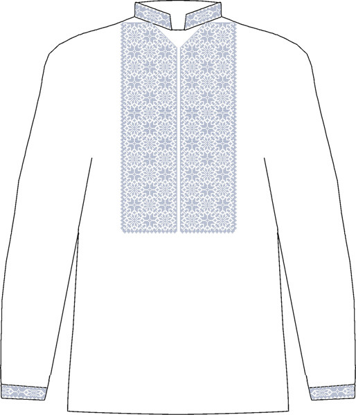 ЧСВБ-29. Заготовка Чоловіча сорочка лляна біла