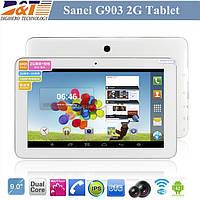 Планшет Sanei G903 (1Sim, 2G, Dual Core), мощный планшет двухъядерный на 9 дюймов, планшет на Android 4.2.2