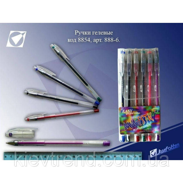 Ручки гелевые, набор Easy gel 6 цветов Josef Otten
