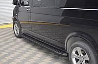 Volkswagen T5 Facelift Боковые подножки X-5 type black длинная база