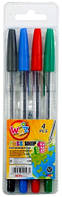 """Ручки шариковые, набор 4 цвета """"BEIFA"""""""