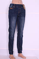 Теплые на байке  джинсы женские больших размеров на резинке с манжетами M.Sara размеры 30,31,32,33,34.