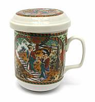 Чашка керамическая заварочная с ситом Гейши