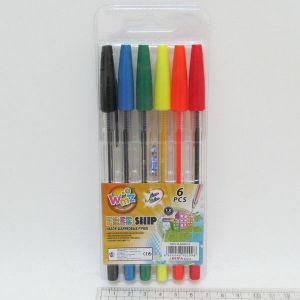 """Ручки кулькові, набір 6 кольорів """"BEIFA"""""""