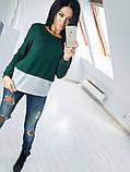 Двухцветная Кофта рубашка туника блузка Фишка, фото 5