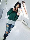Двухцветная Кофта рубашка туника блузка Фишка, фото 6