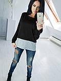 Двухцветная Кофта рубашка туника блузка Фишка, фото 7
