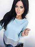 Двухцветная Кофта рубашка туника блузка Фишка, фото 8