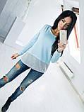 Двухцветная Кофта рубашка туника блузка Фишка, фото 10