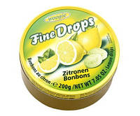 Fine Drops Лимон леденцы в ж/б, 200 г
