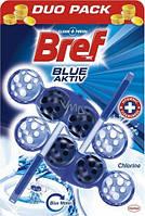 Bref туалетный блок Blue Aktiv антибактер., 2 шт.