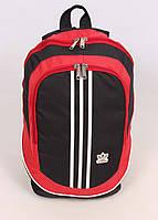 Стильный рюкзак, красный с черным