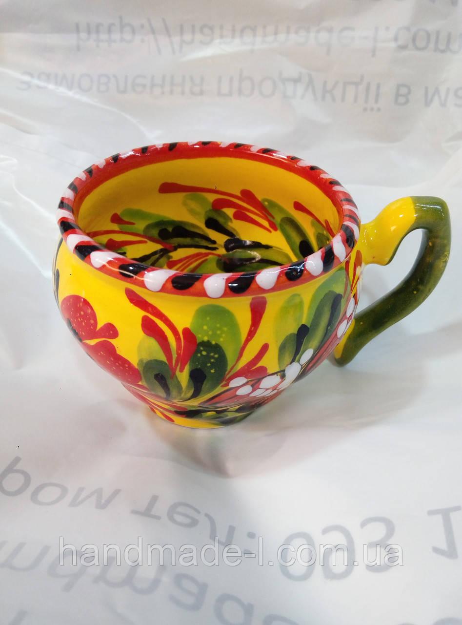 Чашка мальована капучіно