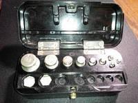 Набор гирек СССР малый до 100 грамм в шкатулке