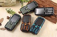 Противоударный громкий телефон с большой батареей 9800Mah Land Rover A6 на 2 Сим +Фонарь