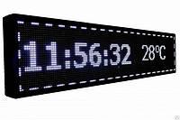 Светодиодная бегущая LED строка белая 1х20, светодиодная вывеска, рекламное табло, информационная LED-доска