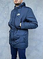 Зимняя парка мужская, синего цвета S