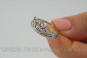 Серебряное кольцо корона 925 с родиевым покрытием