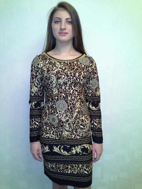 3f897e06791c Теплое женское платье Versace 6891 -
