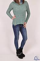 Джемпер-обманка женский вязаный (цвет зеленый) размер 44-46 Caroon 5264SW