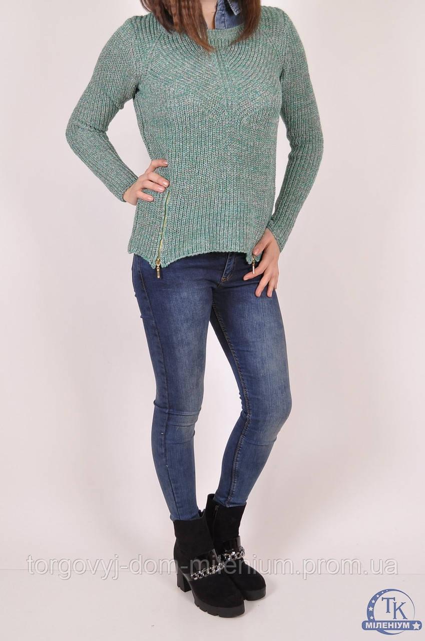 """Джемпер-обманка женский вязаный (цвет зеленый) размер 44-46 Caroon 5264SW - Торговый дом """"Милениум"""" в Днепропетровской области"""