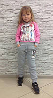 Костюм для девочки флисе  TM Brendinno (кофта+штаны), Турция