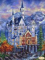 """Схема для вышивки на атласе """"Замок Нойшванштайн осенью"""""""