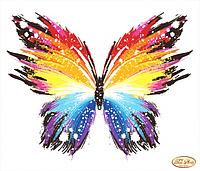Схема для вышивки на габардин Бабочка