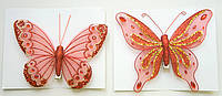 Декоративная бабочка, 12 см., 2 вида 702-P15