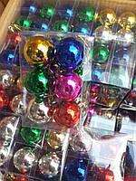 Новогодняя игрушка шар. 12 шт
